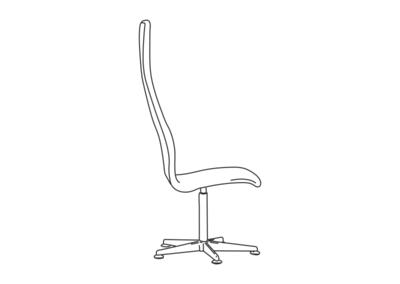 Oxford kontorstol høj ryg
