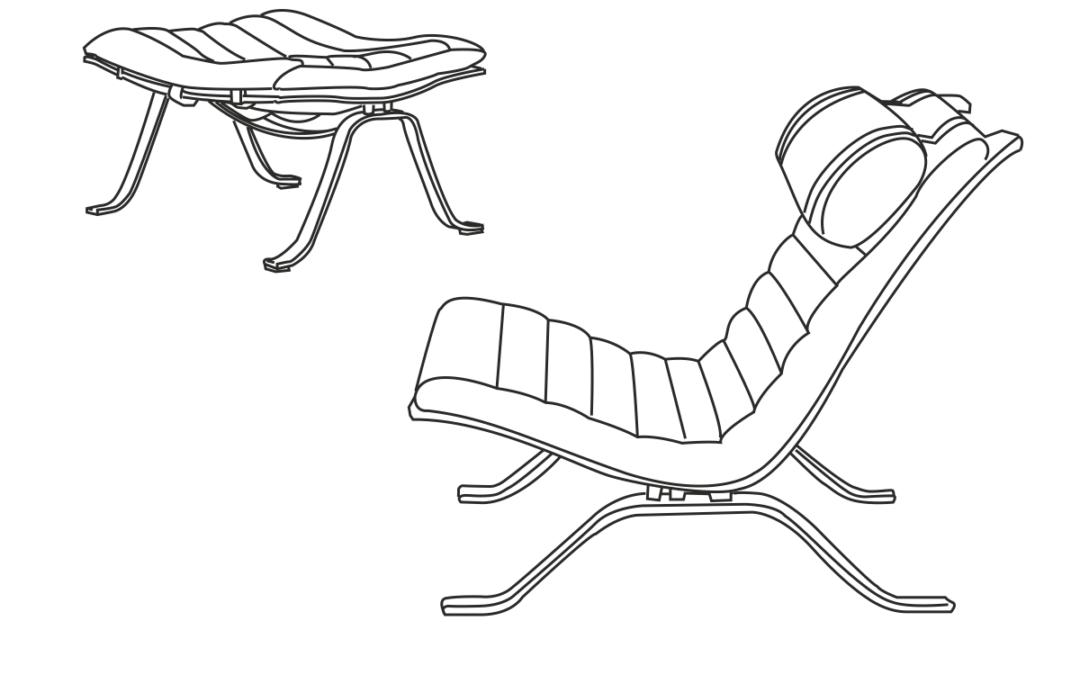 Ari stol og fodskammel