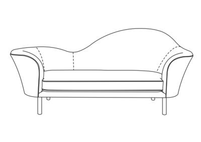 Gubi grand piano sofa